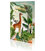 Jungle geboortekaartje jungle met giraffe