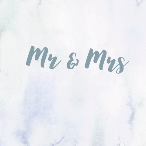 Moderne trouwkaart Mr en Mrs